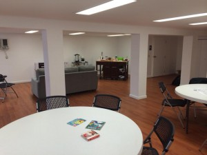 The space inside 'The 412′ fits about two dozen people comfortably and includes anything from tutoring help to art classes to discussion on fantasy football.