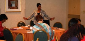 "WEEE founder Alice Williams leads a workshop titled ""Building a Business Against the Tax Code."""