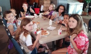 The goal is to serve 8,000 lunches this year in Columbia as part of the Summer Food Service Program. This meal included Little Caesars pizza.