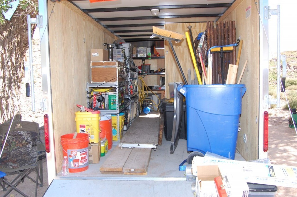 The Third PC trailer is stocked and ready for another mission trip in the States.