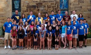The group of 42 from Sewickley Presbyterian Church gathers before departing for West Virginia, a trip that came about after a last-minute change derailed the church's original trip to Haiti