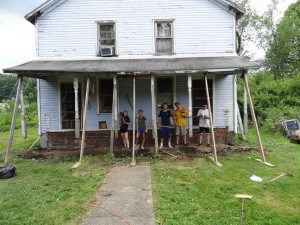 Even though work was planned in Haiti, there was plenty of good will done in Buckhannon, WV, in June.