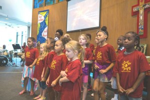 COR's Summer Camp Choir entertains with some songs.
