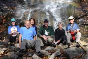 The Faith & Nature Group from First Presbyterian Church in Pottstown pauses during a recent hike at Glen Onoko Falls/Lehigh Valley Gorge State Park.