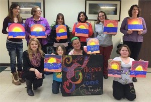 Some members of the Uniontown ESL class participated in a local art program recently. It's just one example of how the class tries to help the students make a place for themselves in the local community.