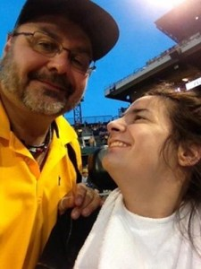 Pastor Jim Agnew shares a moment with his daughter Hailee, who is the inspiration for Jim's devotion to minister to the disabled.