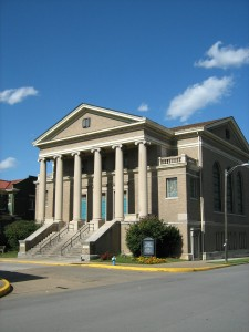 The front of Ruffner Memorial Presbyterian Church in Charleston, WV.
