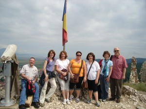 This was the mission team from Paoli Presbyterian Church that traveled to Romania and eventually visited a safe house for which Jen Baker now makes scarves to support.