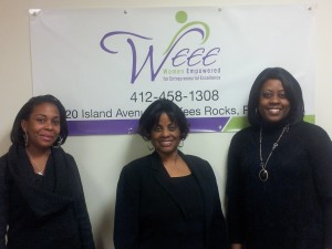 Part of the founding group for Women Empowered for Entrepreneurial Excellence includes, from left, Shaunte Steif, Alice Williams and Troi Simpson. Simpson also sits on the board of the Pittsburgh Presbytery SDOP and is the secretary of the WEEE Board of Directors.