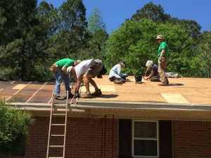 working on roof in S.C.
