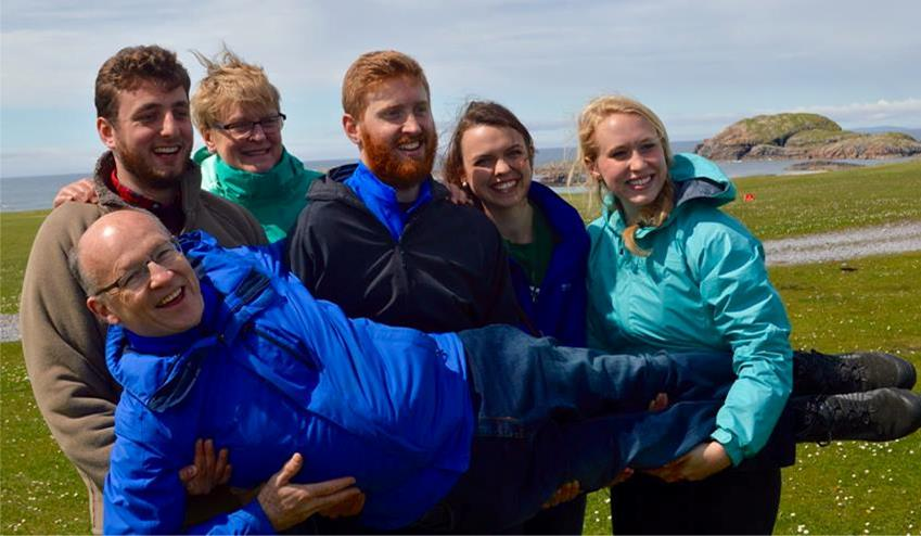 HL The foure Belfast YAVs with site coordinator on retreat in Iona, scotland