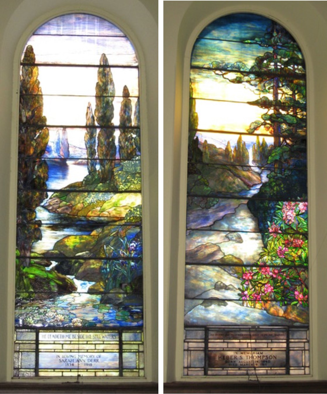 The Sale Of These Two Tiffany Stained Glass Windows Is Helping United Presbyterian Church In Pottsville PA Upgrade Its Heating System And Also Incorporate