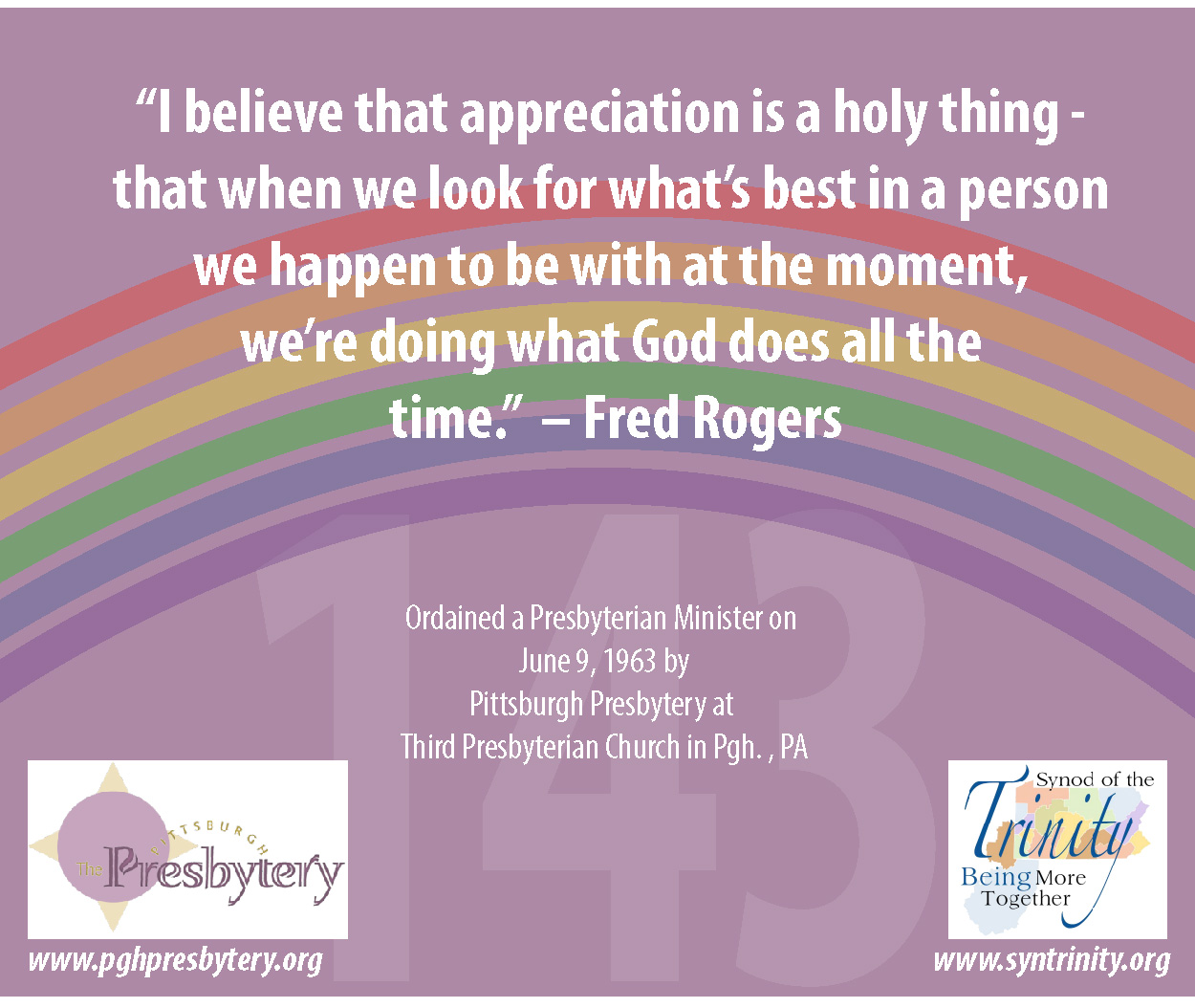 Rev Dr Fred Mister Rogers Synod Of The Trinity