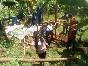 Buha water well digging