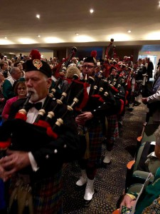 Joint Worship Service - Bagpipers